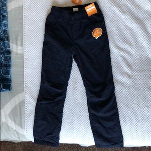 NWT Gymboree navy blue pants with elastic waist!!!